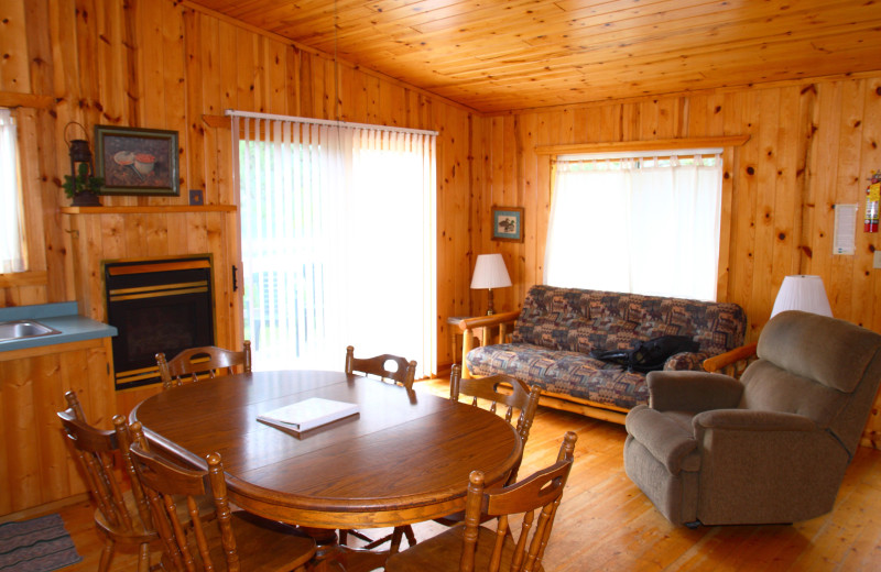 Lodge living area at Pine Terrace Resort