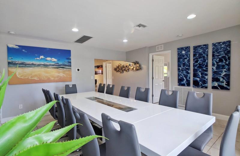 Rental dining room at Walker Vacation Rentals.