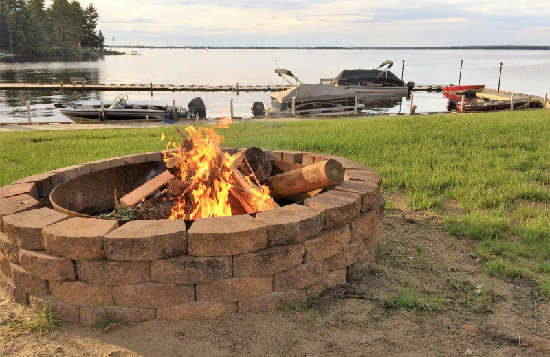 Bonfire at The Pines of Kabetogama Resort.