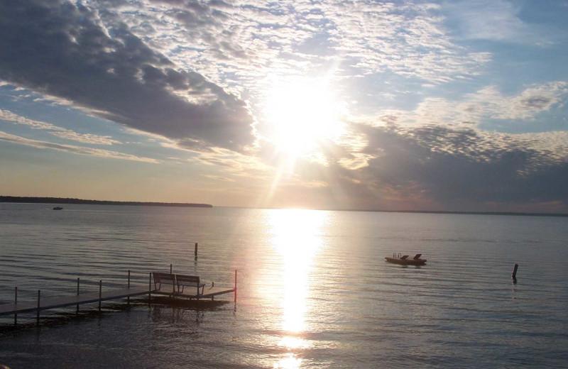 Lake view at Barky's Resort.