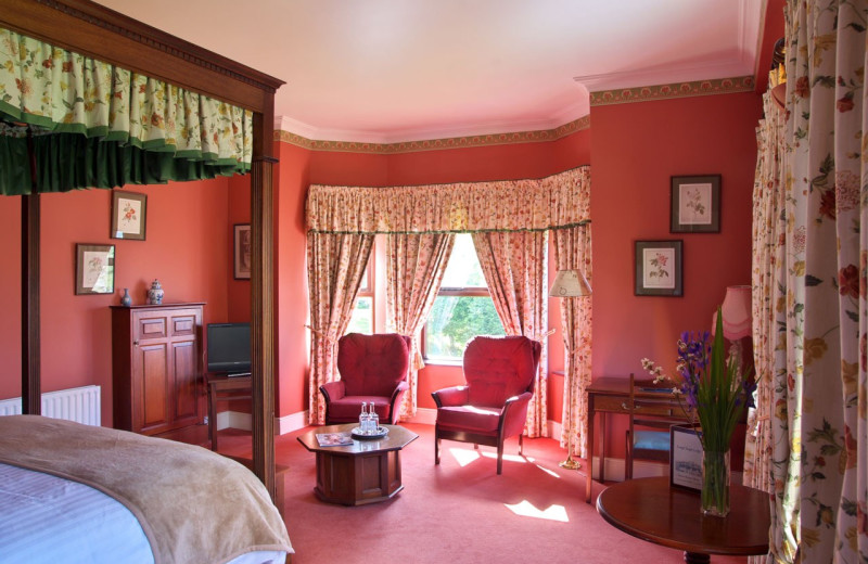 Guest room at Lough Inagh Lodge.