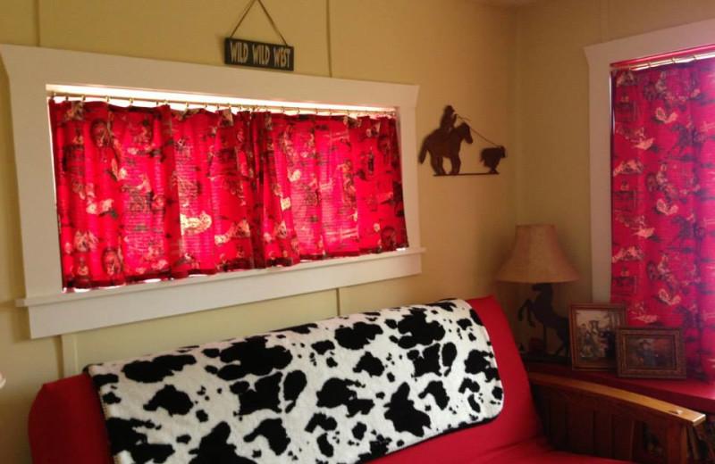 Cabin interior at Sleep's Cabins.