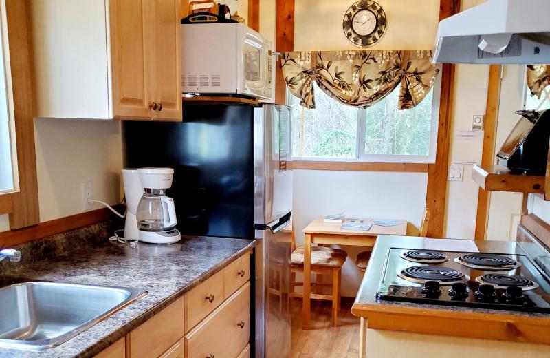 Cottage kitchen at Expanse Cottages.