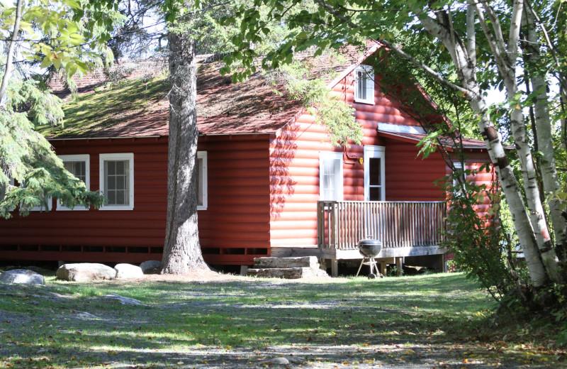 Cabin exterior at Arrowhead Lodge & Resort.