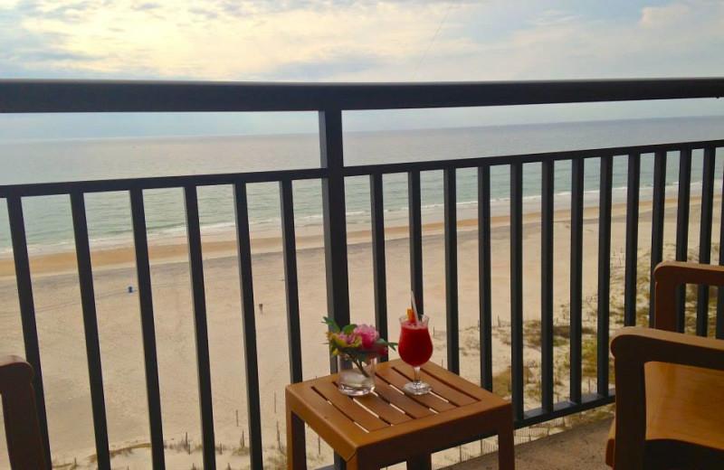 Balcony view of Shell Island Resort.
