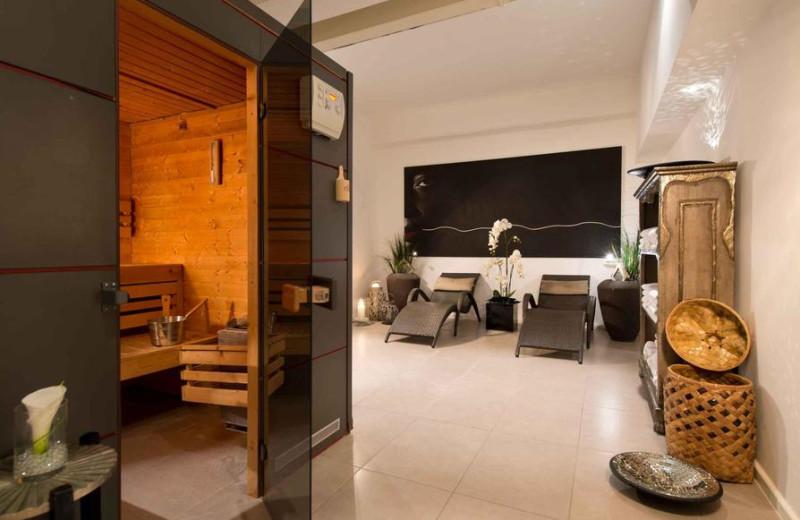 Sauna at Leonardo Royal Hotel Mannheim.
