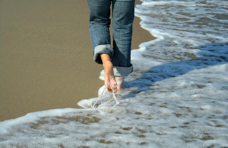 Walk along the beach at Sea Trail Resort.