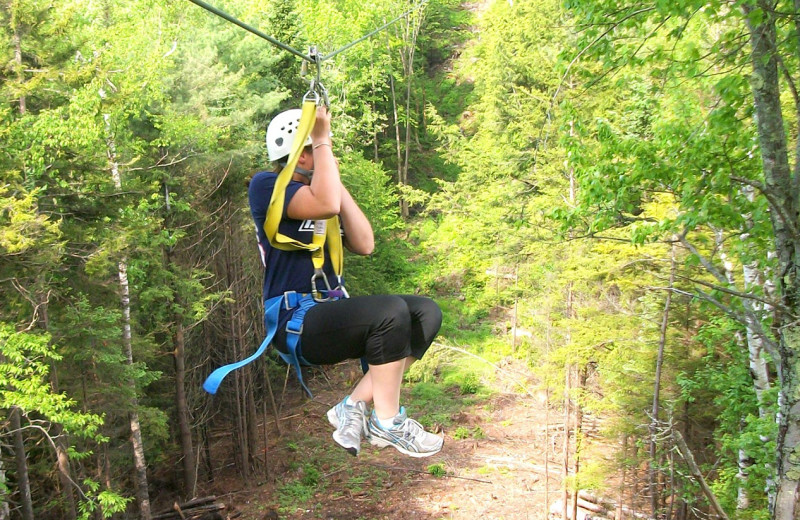 Zip line at Riverbank Motel & Cabins.