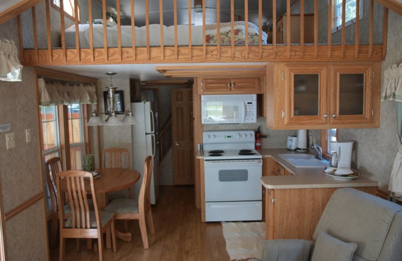 Cottage interior at Hood Canal Cottages.
