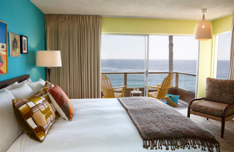 Guest room at Pacific Edge Hotel.