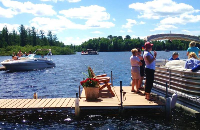 The dock at Chippewa Retreat Resort.