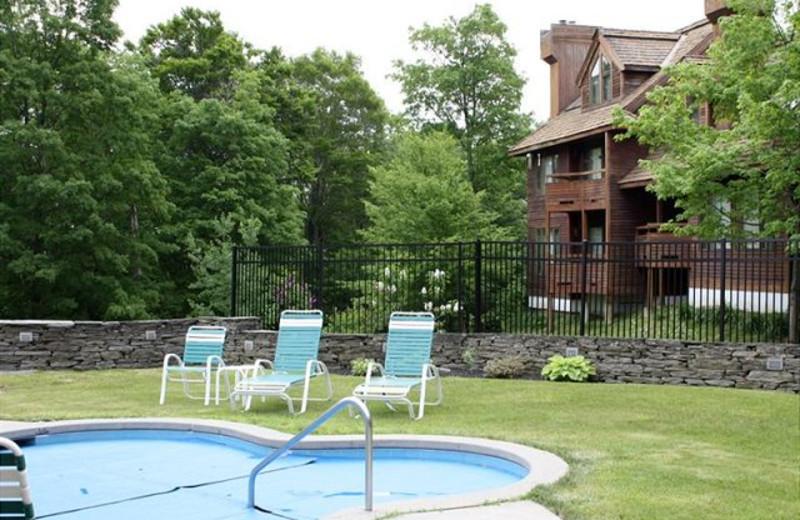 Outdoor  hot tub at Highridge Condominiuma.