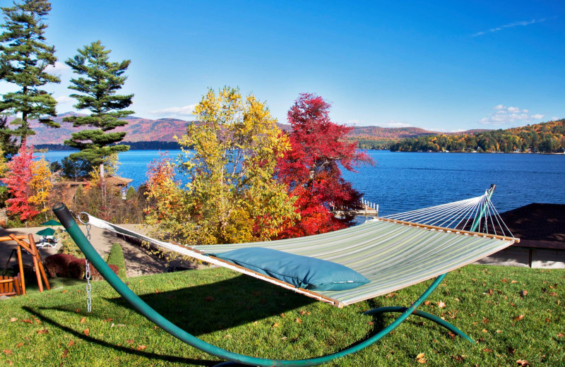 Hammock at The Lodges at Cresthaven on Lake George.