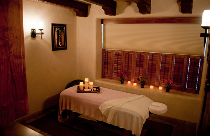 Spa massage table at Tubac Golf Resort.