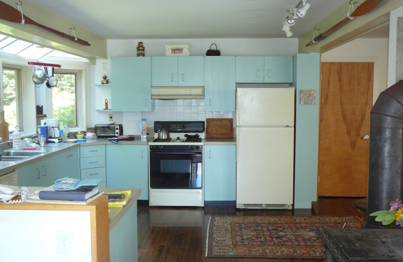 Rental kitchen at Vacation Cottages.