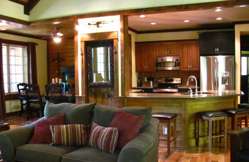 Rental interior at Highland Rim Retreats.