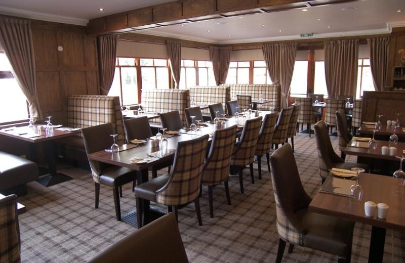 Dining at Braemar Lodge.