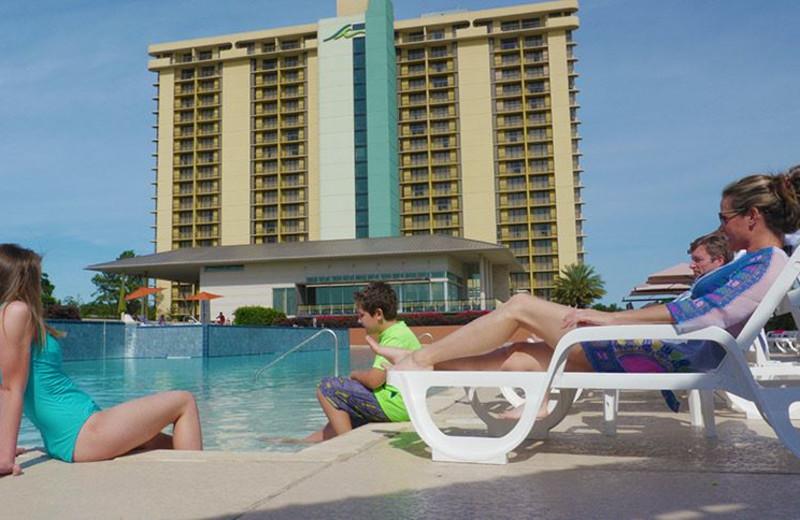 Outdoor pool at La Torretta Lake Resort & Spa.