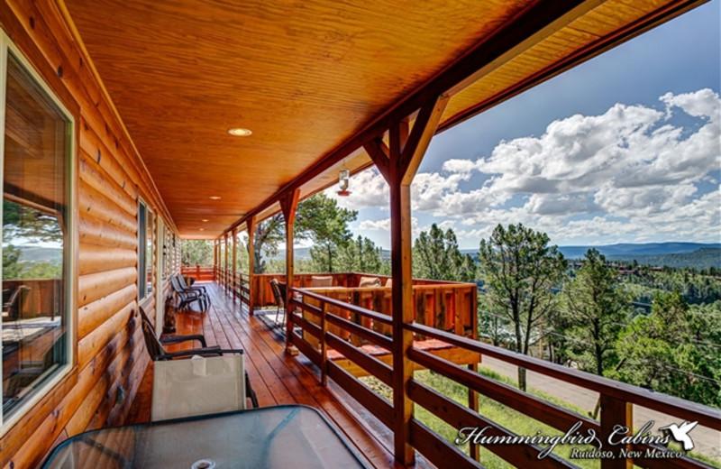 Private porch at Hummingbird Cabins - Bear Crossing Vacation Rental