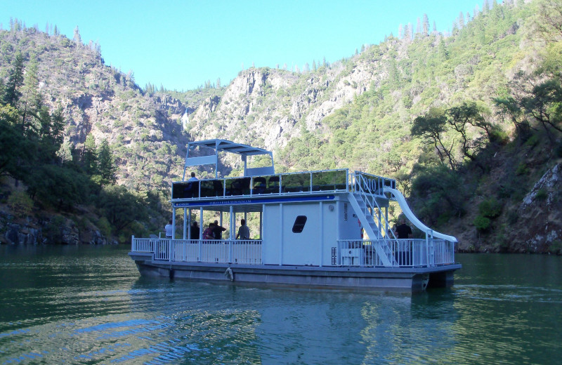 Houseboat exterior at Lake Oroville.