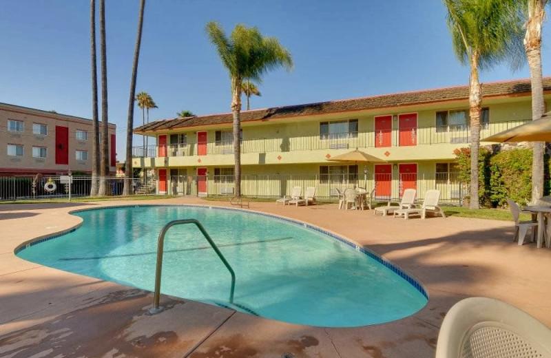 Outdoor pool at Vagabond Inn San Jose.