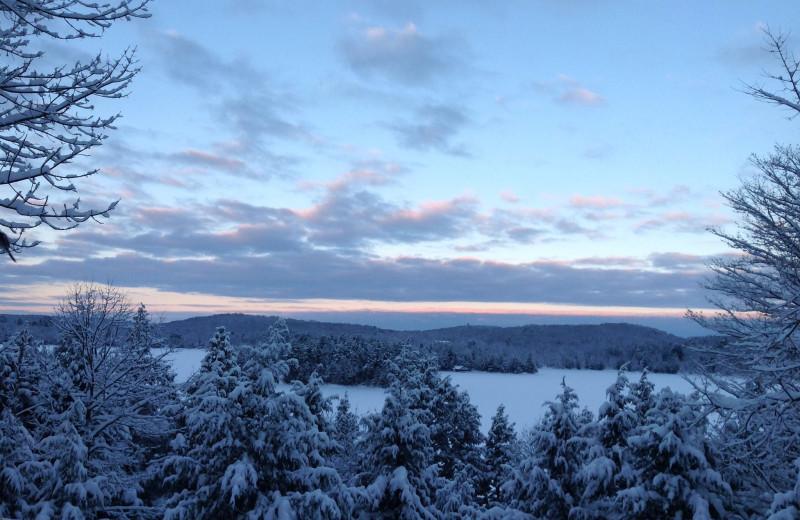 Winter scenery at Lumina Resort.