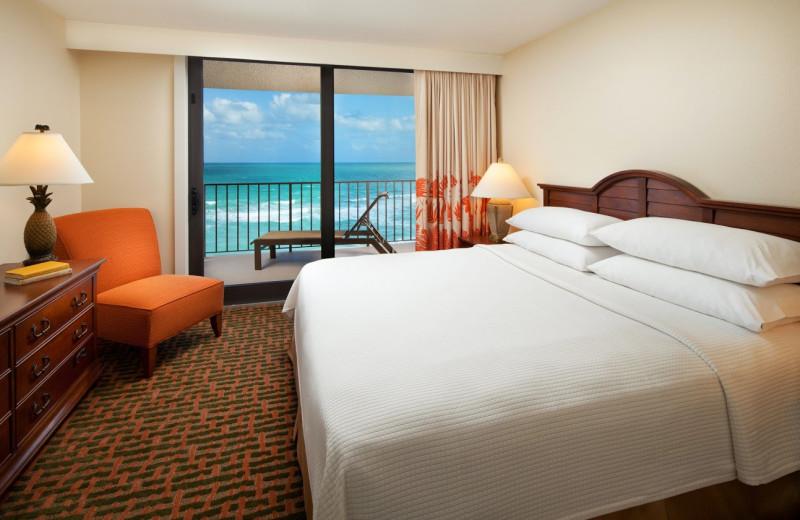Guest room at Vistana Beach Club.