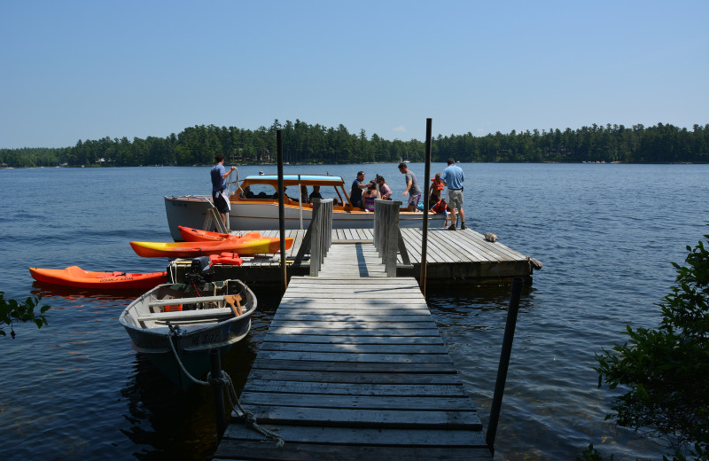 Dock at Migis Lodge.