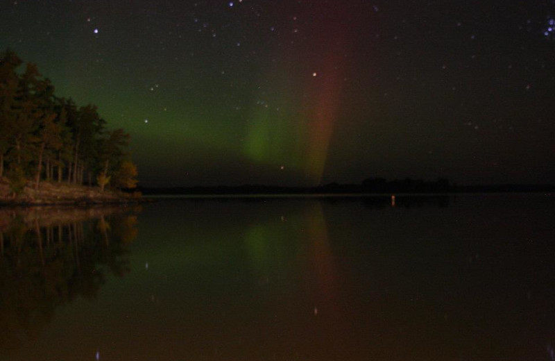 Northern lights at Arrowhead Lodge & Resort.