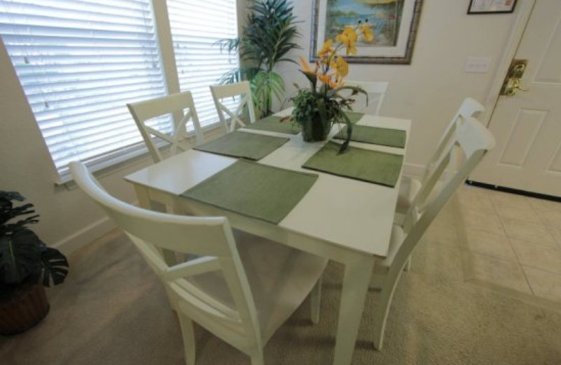 Dining room area at Elite Vacation Homes.