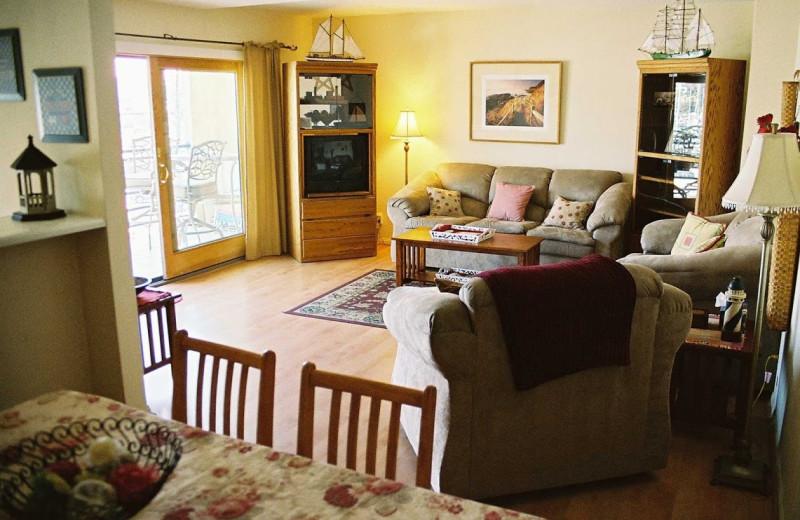 Rental living room at Marina Del Mar Condominium.