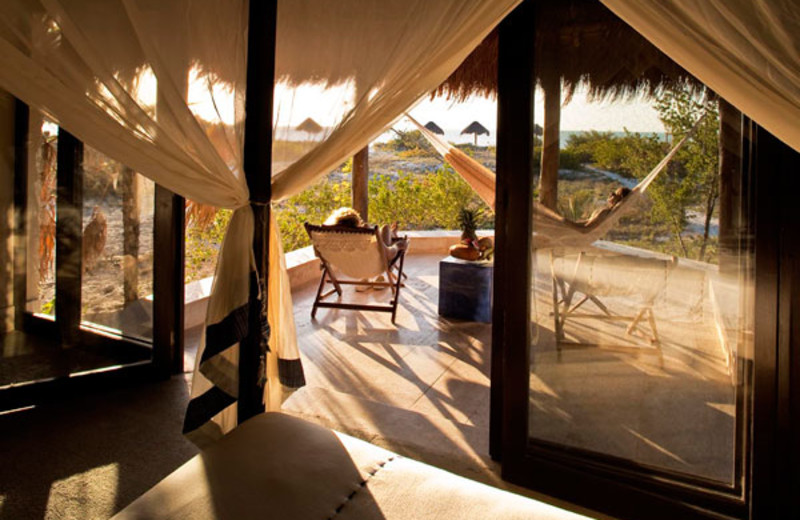Guest room at Eco Paraiso Hotel.
