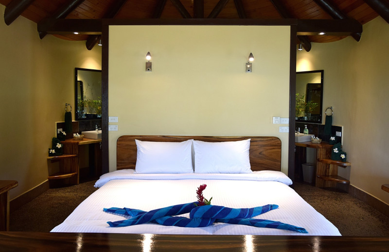 Guest room at Dive Taveuni Resort.
