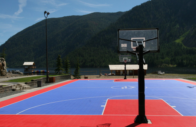 Onsite basketball courts at RockRidge Canyon Camp & Conference Center