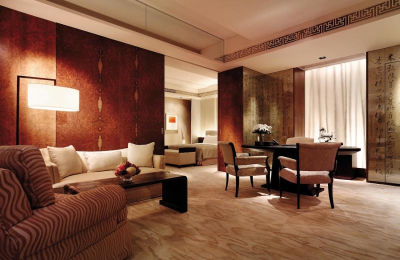 Guest suite at Shangri-La Hotel-Beijing.