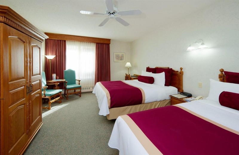Guest room at Banff International Hotel.