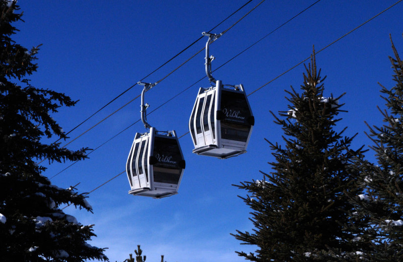 Ski lifts at Trailhead Lodge.