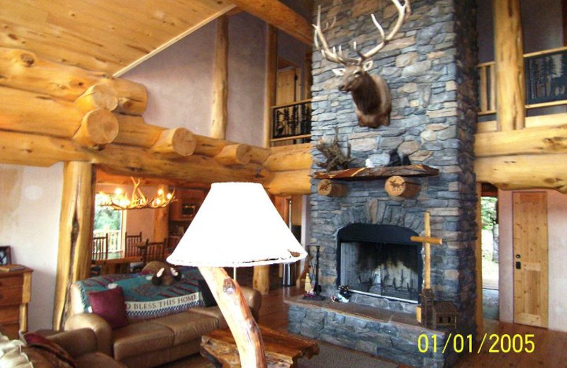 Cabin living room at Resort Properties of Angel Fire.