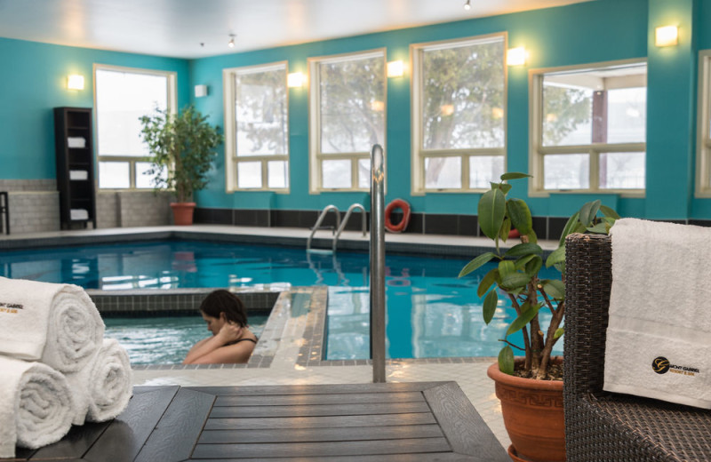 Indoor pool at Hotel Mont Gabriel.