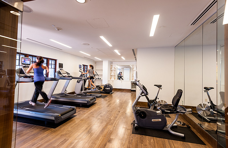 Fitness room at Solaris Residences.