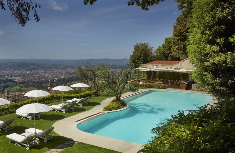 Outdoor pool at Villa San Michele.