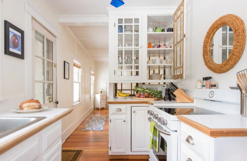 Cabin kitchen at GO-Cottage.