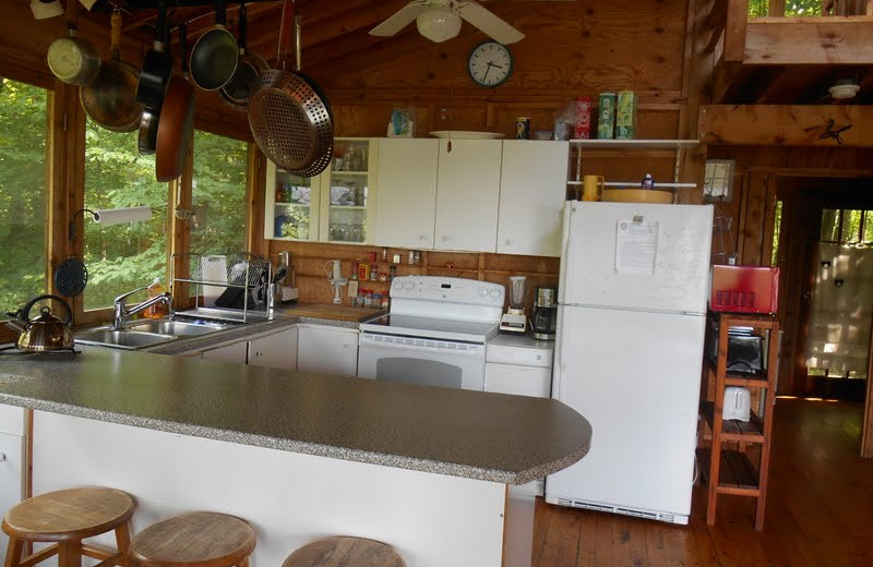 Cottage kitchen at Bob's Lake Cottages_Badour.