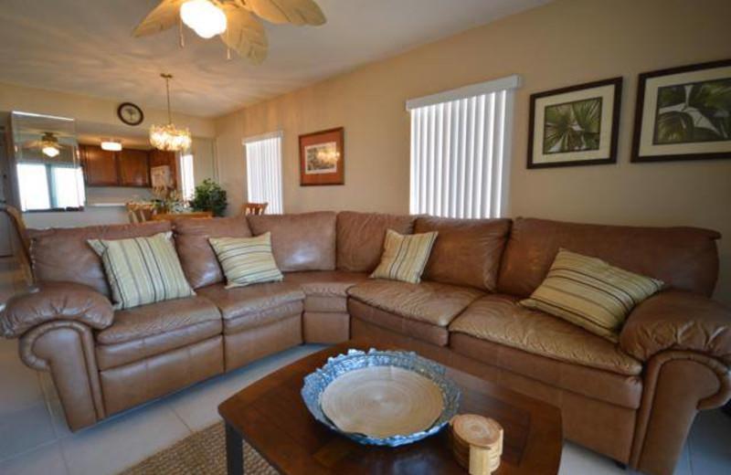 Guest living room at St. Augustine Ocean & Racquet Resort.