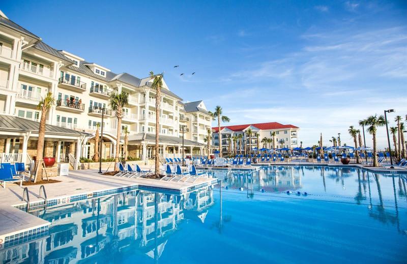 Exterior view of Charleston Harbor Resort and Marina.