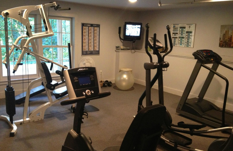 Gym at Inn at Stockbridge.