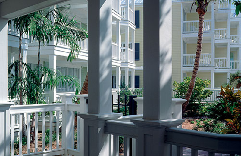 Balcony view at Hyatt's Sunset Harbor Resort.
