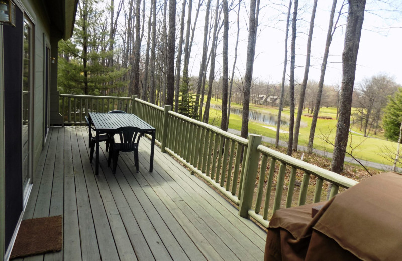 Guest deck at Garland Lodge and Resort.