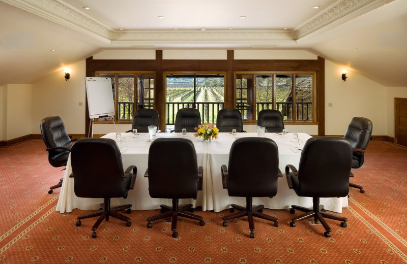 Meeting room at Harvest Inn by Charlie Palmer.