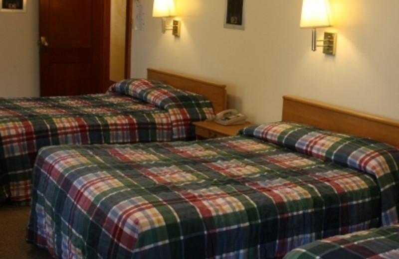 Guest room at Baumann's Brookside Summer Resort.